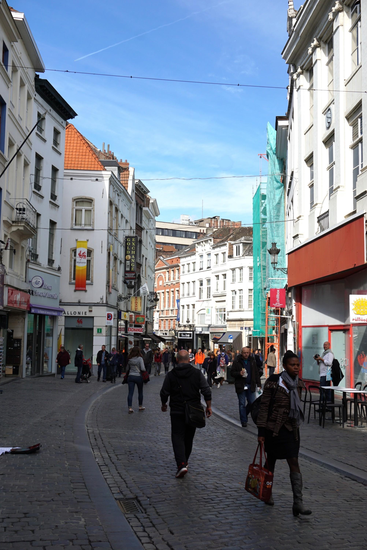 ブリュッセルの街角