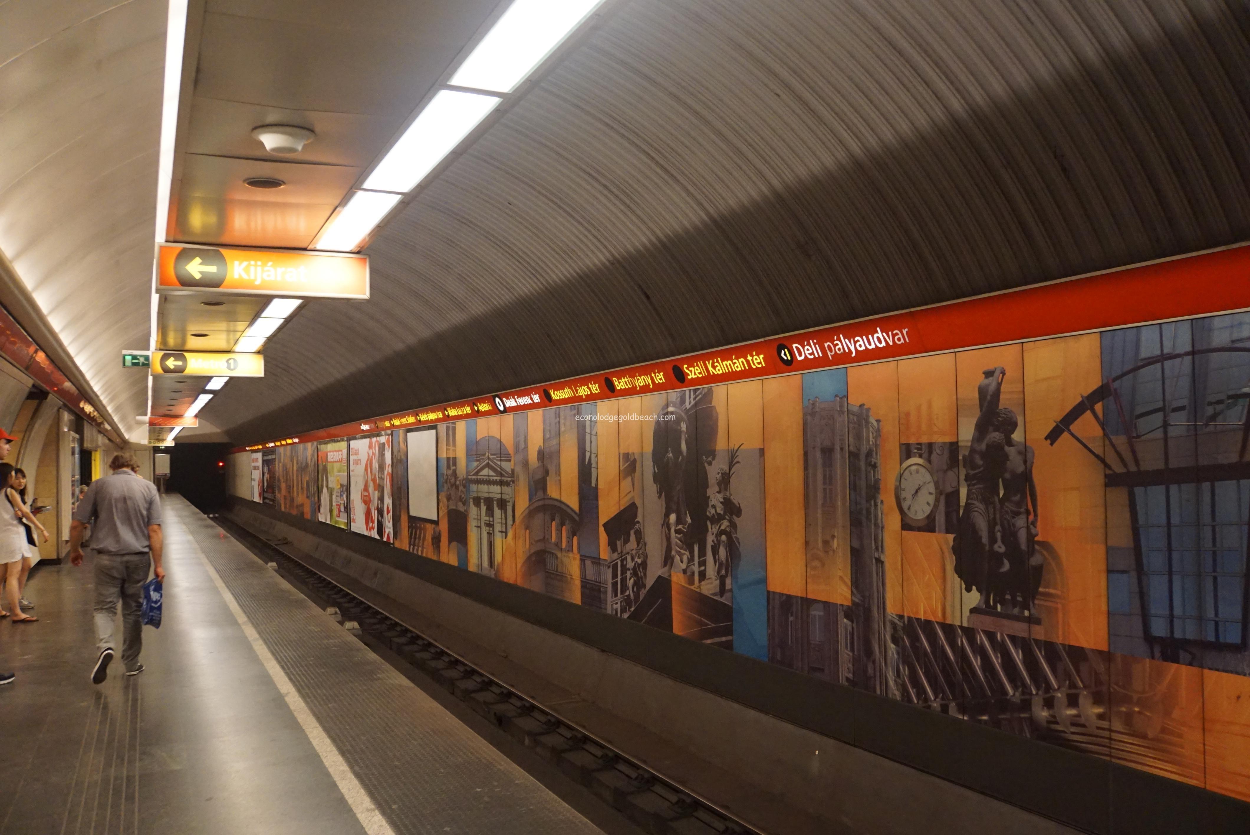 ブダペストの地下鉄構内